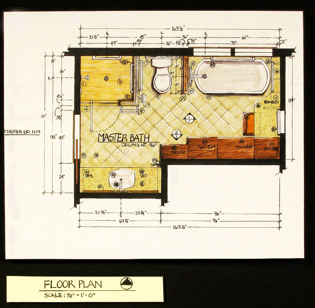 residential bath design floor plan flickr photo sharing
