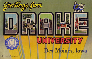 Greetings from Drake University, Des Moines, Iowa - Large Letter Postcard | by Shook Photos