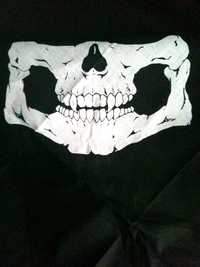 half skull face mask bandana half skull bandana for wint flickr