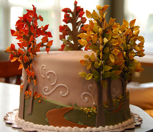 Autumn cake winner of the daring kitchen cake for Autumn cake decoration