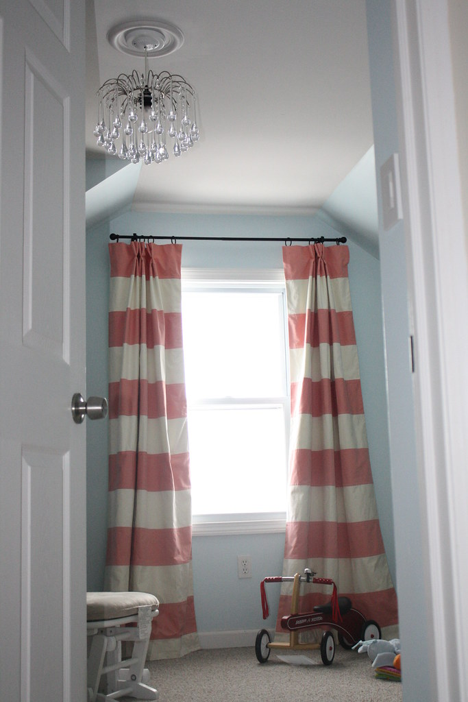 nursery curtains sewn stripes out of amy butl flickr - Blue And White Striped Curtains. Yellow Striped Curtains Blue