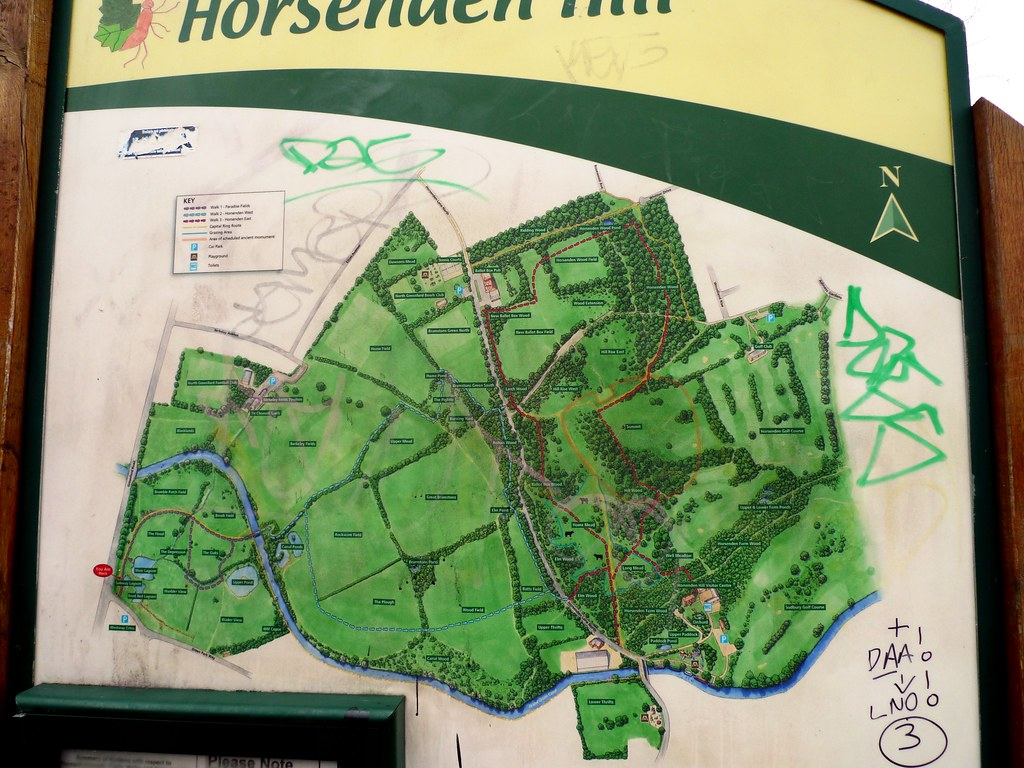 Horsenden Hill | The park sign. (View of park and Paradise ...