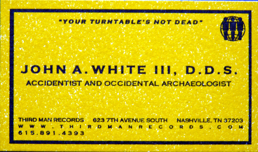 Jack White business card | Daniel Hartwig | Flickr