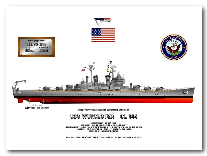 USS Worcester_CL144_56-58 | For the fans of