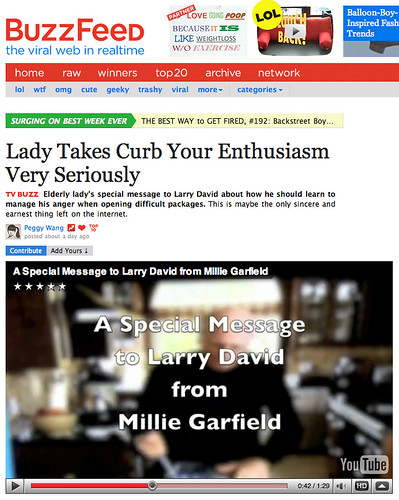 curb your enthusiasm an extremely relatable The faking it fandom is extremely  petition to the various producers of the tv show curb your enthusiasm, hbo  larry's father on the show curb your enthusiasm.