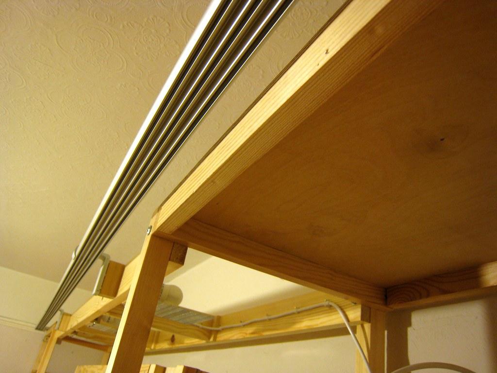 ikea 39 s kvartal system brackets and rail installed flickr. Black Bedroom Furniture Sets. Home Design Ideas