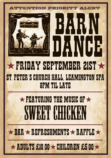 2008 09 21 Barn Dance A Poster Designed For A Local