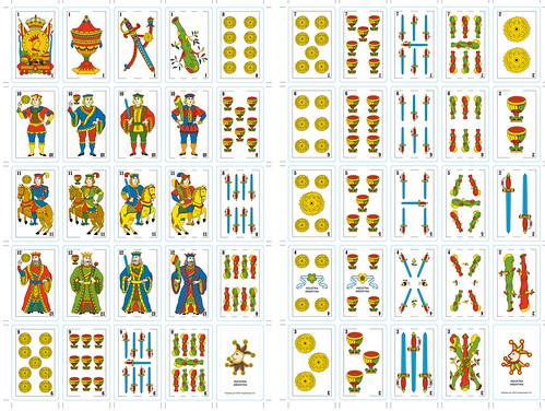 Naipes Espa 241 Oles Dise 241 O De Naipes Espa 241 Oles En Vectores