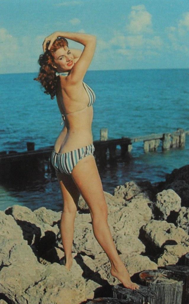 1950S 1960S Woman Beach Swimsuit Bikini Pinup Cheesecake P -4314