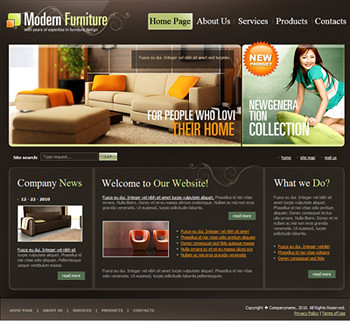 Modern furniture website design template our newest for Modern furniture sites