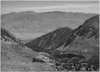 """Owens Valley from Sawmill Pass, Kings River Canyon (Proposed as a national park),"" California, 1936. 