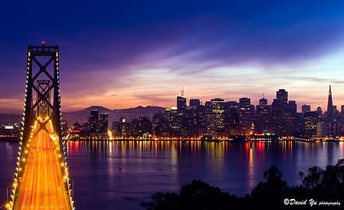 Bay Bridge With San Francisco Cityscape Night Light Flickr