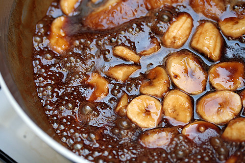 caramelizing bananas | by David Lebovitz