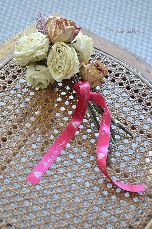 Personalized Ribbon-Dried Roses-Housepitality Designs