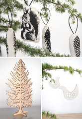 scandinavian style xmas ornaments | by the style files