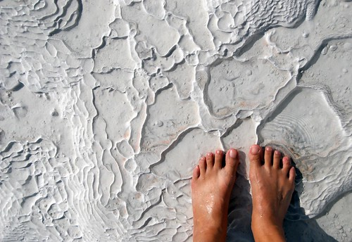 my feet on travertine rock, pamukkale | by hopemeng