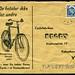danish stamp letter 1960