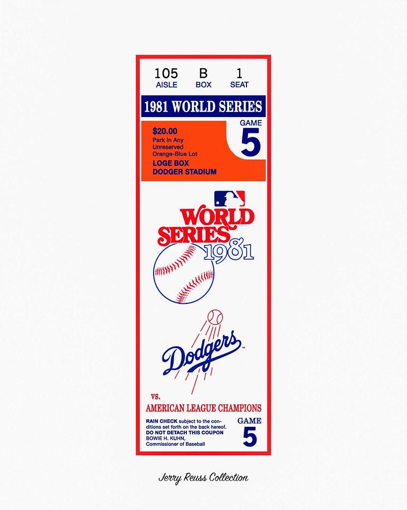 1981 World Series Ticket