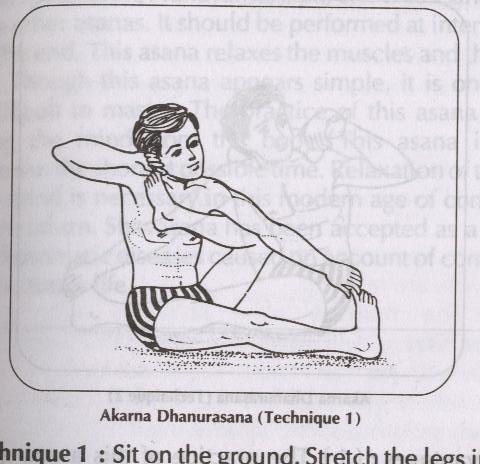 akarna dhanurasana  this asana resembles a strung bow so