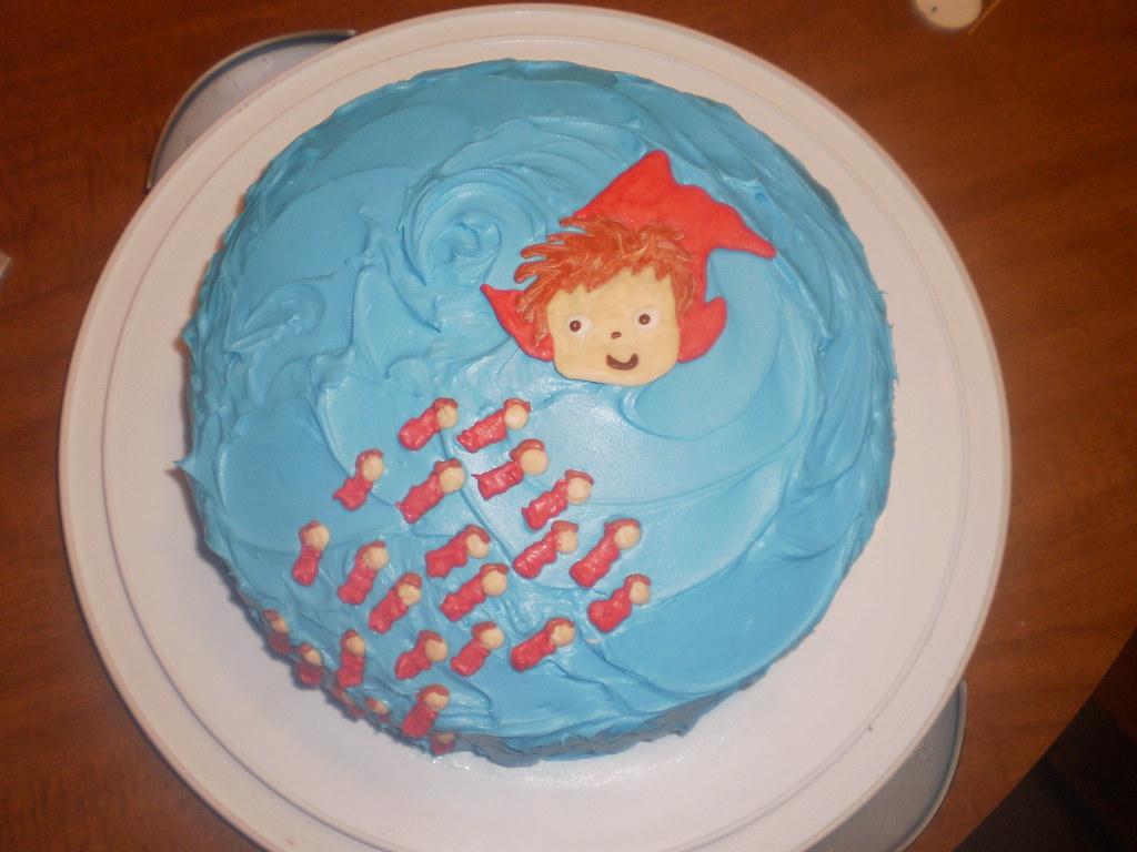 Ponyo Birthday Cake Annabelles Third Birthday Cake Ponyo Flickr