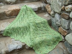 New Green  shawl on the rocks  DSCF0256 | by tanis_knits