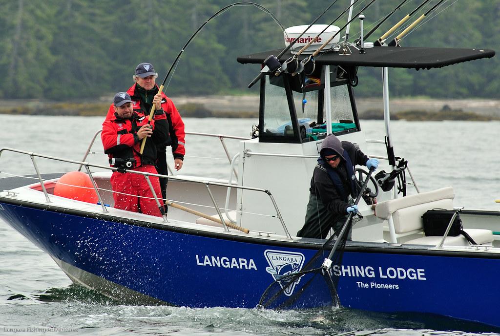 Salmon fishing at langara fishing lodge photo courtesy for Langara fishing lodge