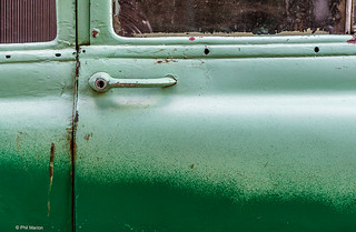 Green on green: In a state of perpetual repair - 50's era car in Havana, Cuba | by Phil Marion
