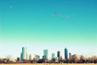 kite and moon over austin | by camera shy momma