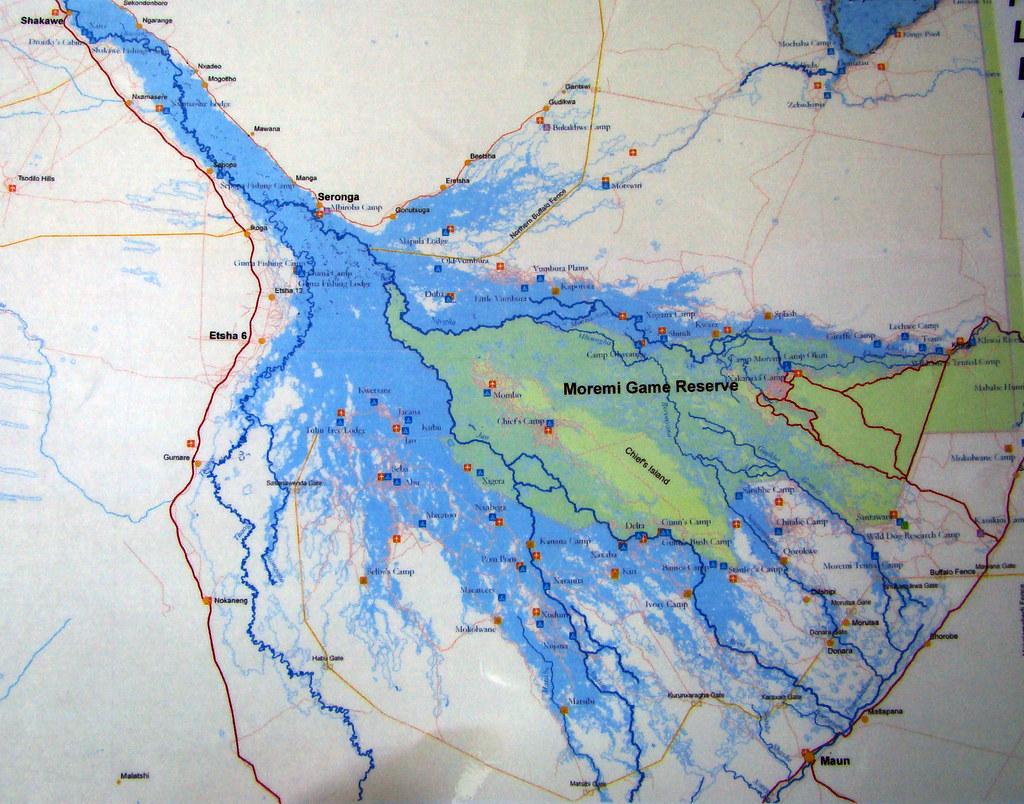 DSC09160 Okavango Delta Map | dutchbaby | Flickr Okavango Basin Information System