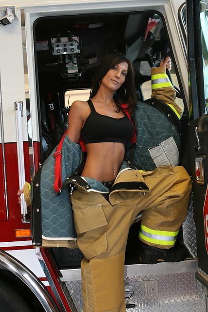 Sexy Firefighter Calendar Girl