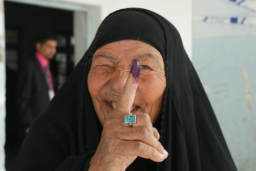 Proud Iraqi Women Vote in Nasiriyah | by DVIDSHUB