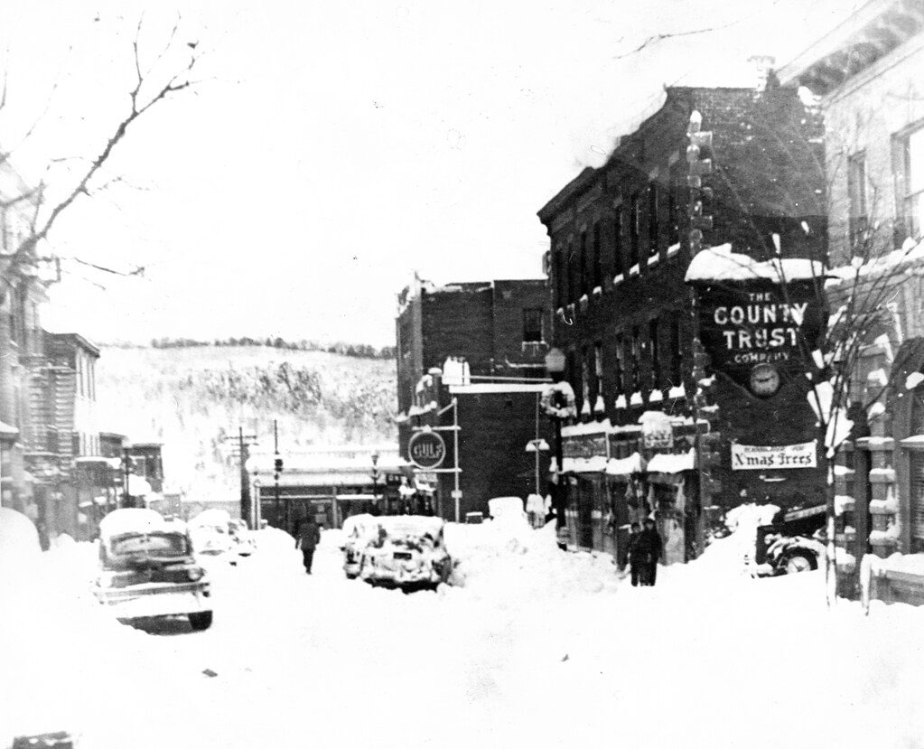 Main Street After The Blizzard Of 1947 Ph09833b Looking