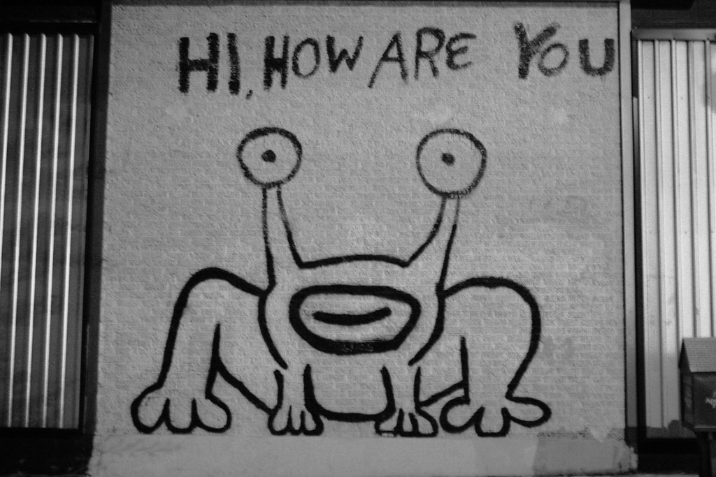 Daniel johnston 39 s famous hi how are you mural i took for Daniel johnston mural austin