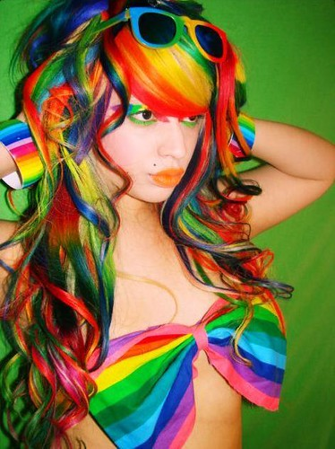 Multi Colored Hair Bows