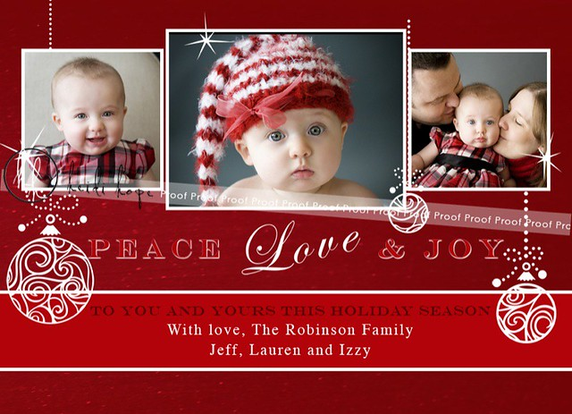 Peace Love Joy 2009 Holiday Card Design Template Ive bee – Holiday Card Template