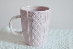 My sweet little knitted mug. | by this lyre lark