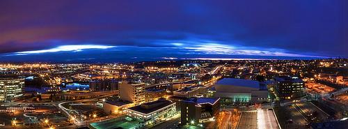 Tacoma Wa Aerial Panoramic View From The Hotel Murano