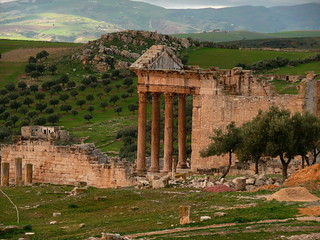 dougga capitol from theatre 1 | by ukdamian