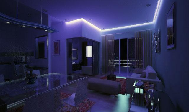 apartamento virtua luminotecnica luz indireta sanca efeito