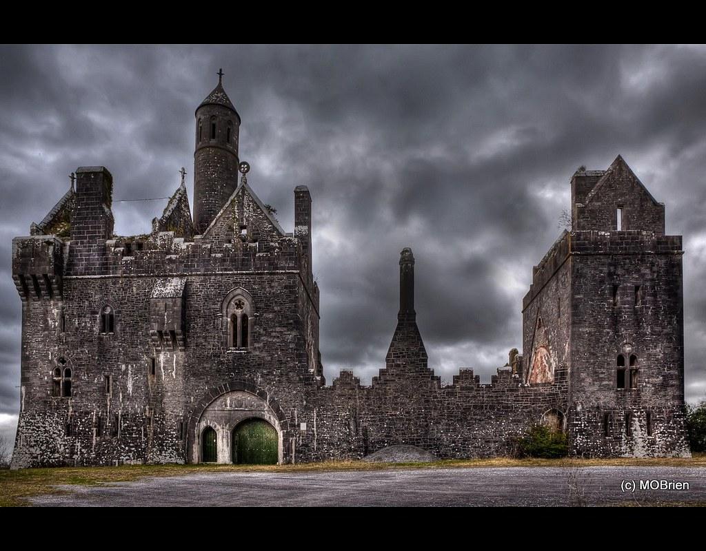 Dromore Castle At Twilight Dromore Castle Pallaskenry