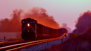 Union Pacific Coal train at Sunset on April 13, 2010 | by basicbill