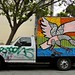 Graffiti Truck w Bird Mural
