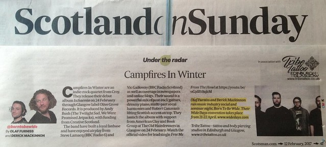 Scotland On Sunday, 12 February 2017, Campfires In Winter