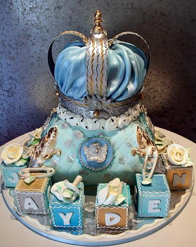 Royal Baby Shower Cake As A Royal Pillow Amp Crown White