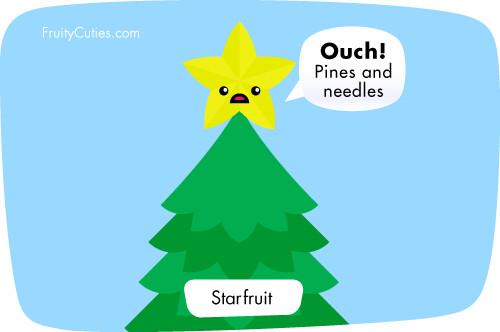 Kawaii cartoon star fruit joke fruity cuties star - Fruity cuties jokes ...