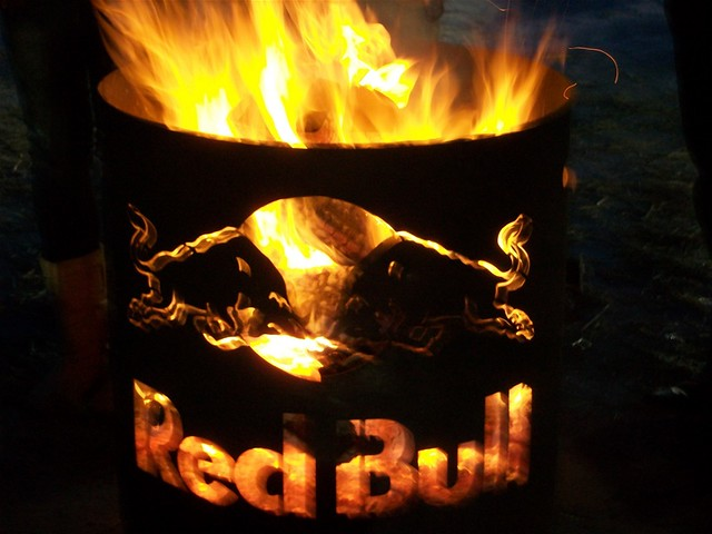 Image result for Red Bull on fire