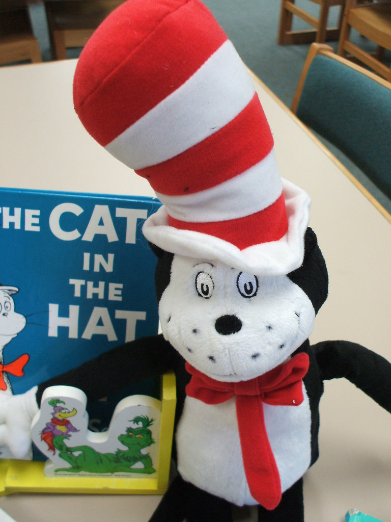 Cat in the Hat with book
