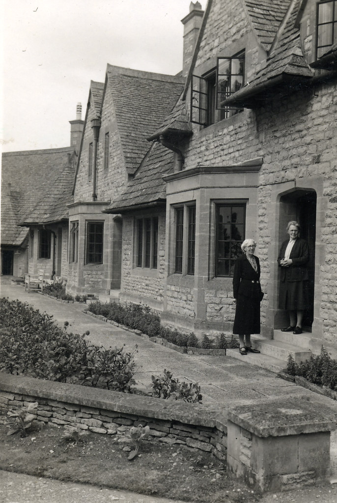 New stone built houses in 1949 found image on the back for Who invented houses