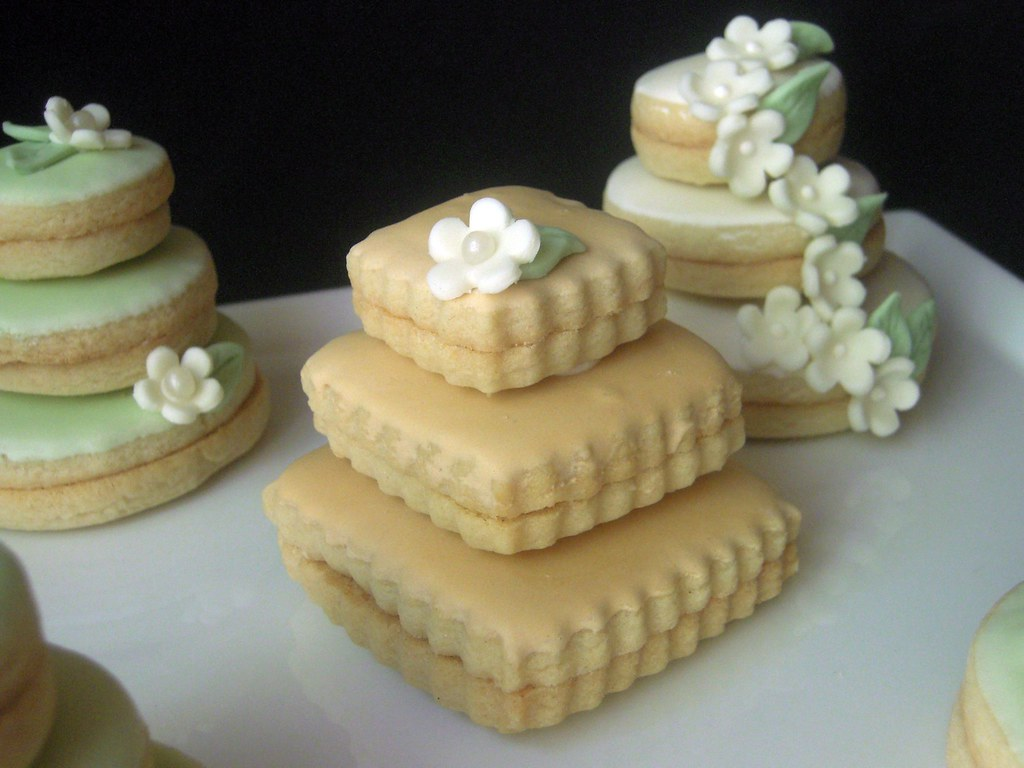 how to ice mini wedding cakes wedding cake cookies mini wedding cakes stacked butter 15755