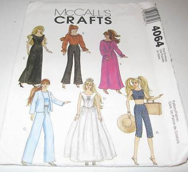 mccalls-crafts-barbie-doll-pattern-4064 | www.sewingdollclot ...